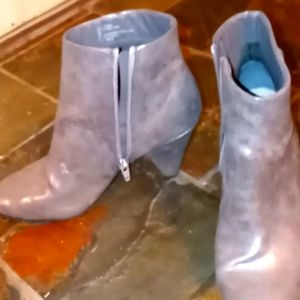 inc silver gray boots